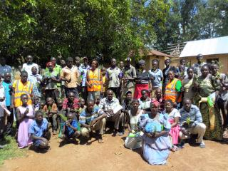 Members of PATU community who attended the training on plantation establishment