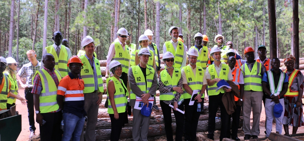 Representatives of European Union missions in Uganda visit Global Woods AG Limited in Kikonda, Hoima District